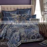 Classic Blue Duvet Bedding set Jacquard Bedding Sets Cotton Bed Sheet Quilt Cover Pillow Case