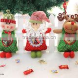 Christmas Tree Decorations New Arrival Christmas Snowman Elk Candy Bags Child Doll Gift Bag festival Party Supplies