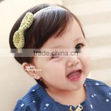 HD121 Hot sale Cute Baby Girls Kids' Big Bow Hairband gold Knot Stretch Turban Head Wrap