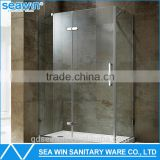 hot sales stainless steel hardware free standing frameless shower enclosure for bathroom