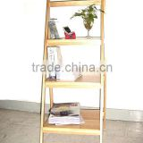 Foldable Folding Collapsible Wooden Rack Shelf for Book and CD and Sundries Display and Storage