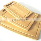 Custom Bamboo Chopping Block Cutting Board with 3 Sizes for Various Use and Handle to Hang and Carry