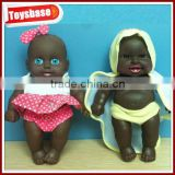 "8.5 "" plastic black dolls wholesale cute black doll for south africa"