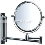 wall mounted swivel bath mirror,hotel bathroom dressing mirror,shower vanity magnifying mirror