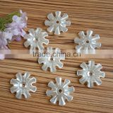 big size middle hole sew on sunflower ivory color fake pearl DIY handwork