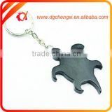 Creative Aluminum Black Turtle-shaped Bottle Opener Keychain