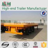 Shengrun carbon steel 3 axle 40ft flatbed semi trailer/container transport semi trailer/flat trucks and trailers