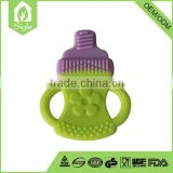 eco-friendly baby milk bottle shape silicone safety products baby teether toys