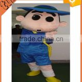 2015 Hot Sell custom plush professional cartoon character mascot Crayon Shin-chan costumes for peomotion