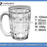 LongRun 360ml 2014 hot sale beautiful recycled water glass tea cup beer glass mugs wholesale
