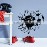 3d printing football wall sticker decoration kid room cat of the tail living room wall decals home decor hot sell sticker LM042