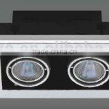 new design high power halogen grille recessed spotlight with high power for jewellery shop