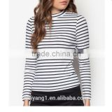 China Factory Direct Wholesale Basics High Neck Fitted Top Long Sleeves Woman Blouses