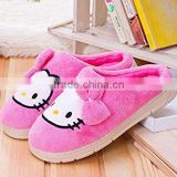 (Adult) Hello Kitty Plush Slippers Warm Cozy Catton Slippers Non-Slip Sole