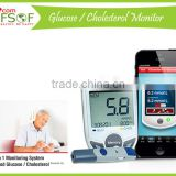 SIFGLUCO-3.1 Bluetooth Blood Glucose Monitoring System, Smart Cholesterol Meter, Blood Glucose Meter With Cholesterol