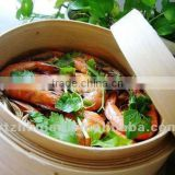 Golden supplier hight quality bamboo steamer basket,size 12 inches one set one lid add one tier or one lid add two tiers