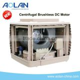 Noiseless air cooler with centrifugal fan and DC motor