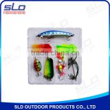 fishing lure bait & accessories assorted combo kit in plastic box