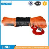 Jinli rope Chineema synthetic 4x4 winch rope with hook thimble sleeve packed as full set