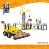 Wholesale Mini engineering truck building for boys childrens building intelligent games toys