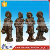 Four cute bronze children statue for outdoor decoration NTBH-056LI