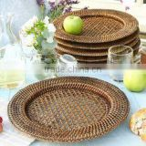 Rattan charger plate cheap price