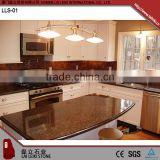 Irregular shaped Tan Brown polished granite table top for kitchen
