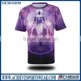 Custom made fully sublimation mens half sleeved dart t shirts wholesale