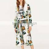 Fashion printed nightshirts beach women kimono robe with tie front