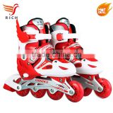 PU single flashing roller skate shoes price for kids 2017