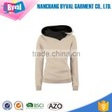 Wholesale Long Sleeve Plain Dyed Pullover Women Blank Hoodies