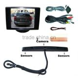License Plate Parking Sensor With Monitor For Rearviewing