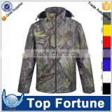 camo tactical softshell jacket,waterproof hunting sublimation jacket