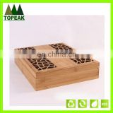 Pretty pattern hollow custom logo printing wooden box Packaging Box