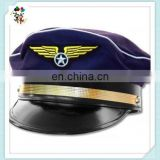 Adult Airline Captain Pilot Aviator Airplane Costume Hats with Vinyl Brim HPC-0213