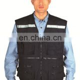reflective safety vest/ cheap workwear safety vest reflective waistcoat/ men's casual wearing vest with pockets