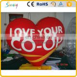 Sale welded large lovely inflatable red heart shape model