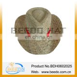 summer men wheat paper light wholesale straw cowboy hats for farmer