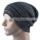 Autumn Winter Stripe Knitting Hat Warm Wool Cap Factory Custom High Quality 3D Embroidery LOGO Personalized dad hat