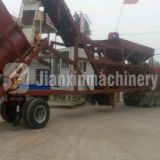 The mobile concrete batching plant in Libya for sale