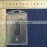 PP material clear hard plastic id card holder in vertical