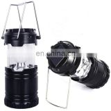 Emergency Solar Li Battery Outdoor Sport Fishing Lantern LED Camping Light with Torch
