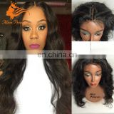 Pineapple Wave Natural Color Lace Front Wig From Qingdao Wig Distributor Virgin Human Hair Buzz Cut Wig For Black Women