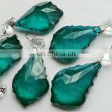 ROYAL TEAL BLUE CHANDELIER CRYSTALS DROPS