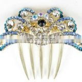 2013 newest fashion alloy bowtie rhinestone hair comb fork