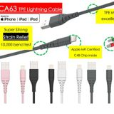 C48 Lightning 2.4A certified MFi charging iphone cable, PVC, Nylon, TPE