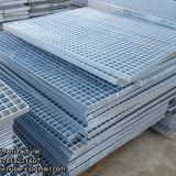 Steel grating stair treads for walkways