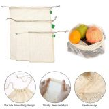 9 REUSABLE Organic Cotton Produce Bags - Storage Bags - Vegetable Mesh Bags - Grocery Bags | Zero Waste | Plastic Free Gifts