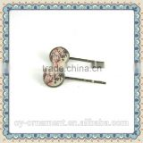 Bobby pins with alloy with glass