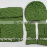Fashionable women scarf hat and gloves knitted set                                                                         Quality Choice